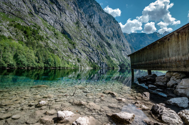Another shot of one of the most beautiful places in Germany🇩🇪🏞️ Obersee Nature Natur Landscape Landscapes Landscape_Collection Sea Forest Travel Traveling Outdoor Alpen Colorful Scenery Climbing Mountains Landschaft EyeEm Selects Bayern Water Mountain Bridge - Man Made Structure Sky Architecture Built Structure Lakeside Mountain Range Lake Countryside
