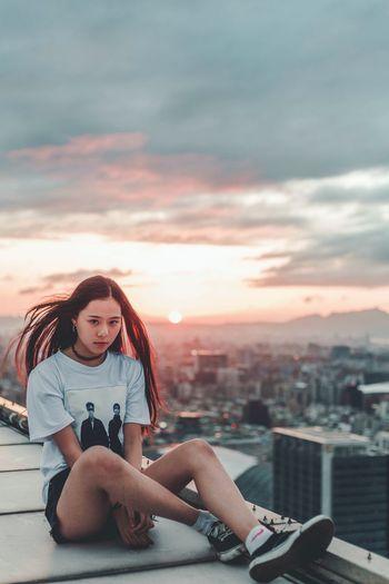 Rooftop girlEyeEm Selects EyeEm EyeEmNewHere Urban Exploration Portait Portrait Of A Girl Portraits City City Life Girl Lifestyles Outdoors Style Rooftop Rooftops Rooftopping Sunset Urban Lifestyle EyeEm Best Shots People EyeEm Selects