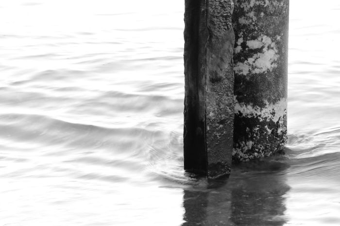 Blackandwhite Reflections In The Water Water Sea Sorrento, Italia Mysterious