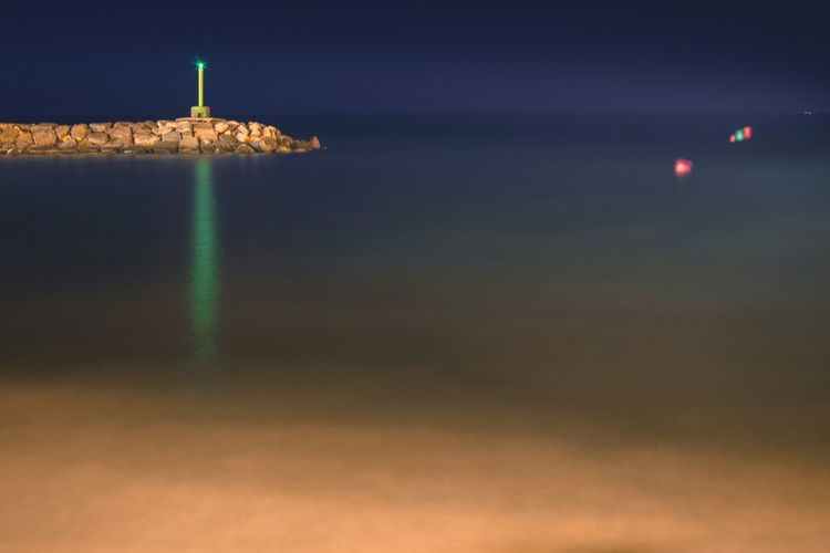 Night Nightphotography Night Photography Night Lights Night Shot Beach Night Blue Sky Sky Night Beach Photography Sea And Sky Landscape Colorsplash Lighthouse Lighthouse_lovers Lighthousephotography Sand & Sea Large Expanse Of Beach Large Exposure Green Lighthouse Lights Reflection Reflections In The Water Alicante, Spain Alicante Degraded