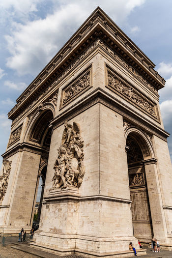 Paris France Paris France Paris ❤ Architecture Built Structure Cloud - Sky Sky Building Exterior Low Angle View Sculpture Art And Craft History The Past Representation Nature Human Representation Travel Destinations Statue Arch Religion Day Craft Outdoors Bas Relief