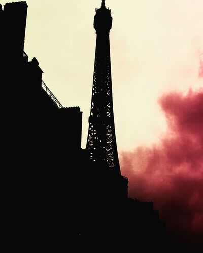 Silhouette Built Structure Tower Architecture Low Angle View Travel Destinations No People