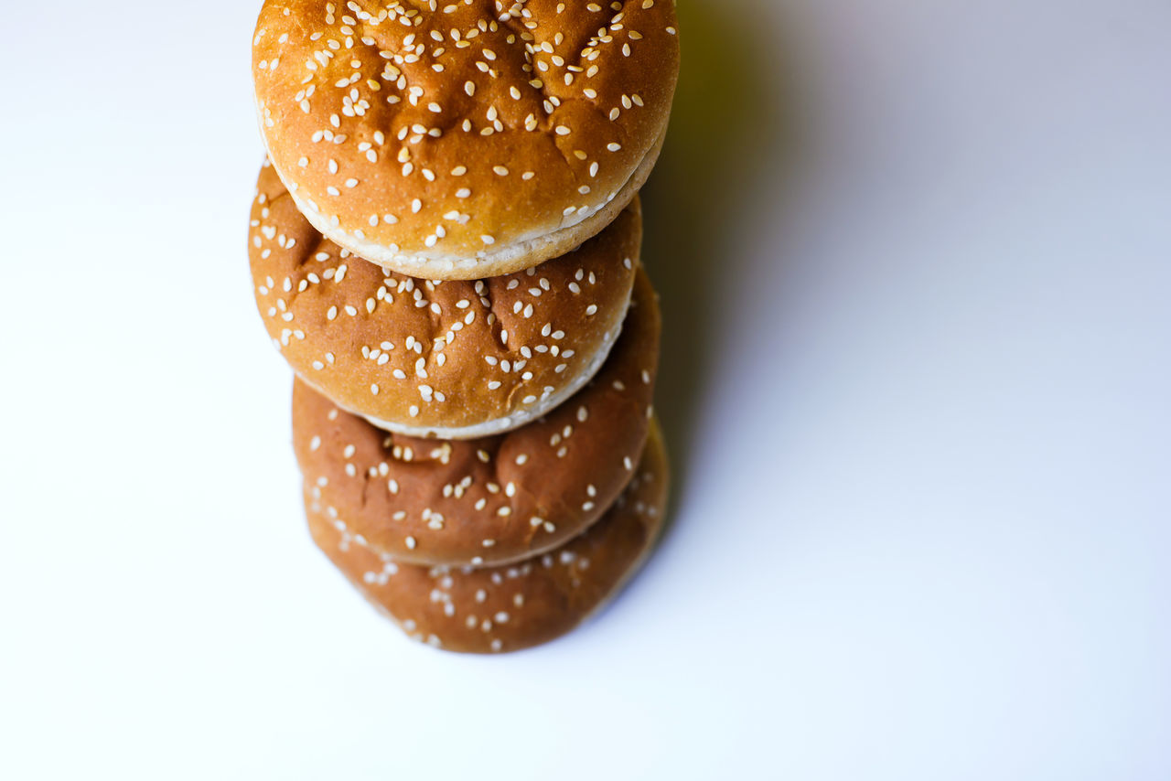 food and drink, food, close-up, no people, bun, freshness, bread, white background, day