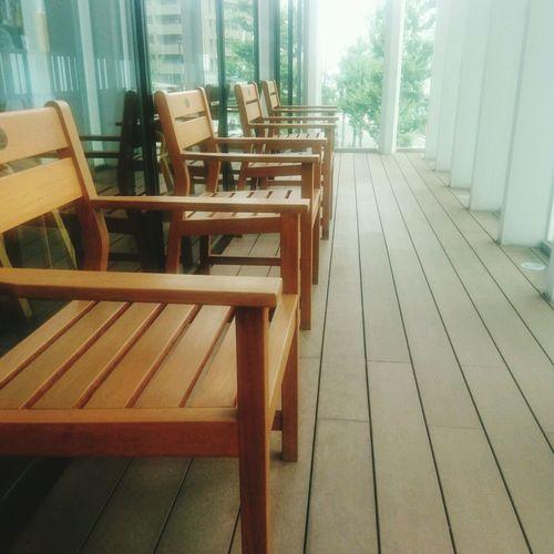 自慢の図書館 Chair Wood - Material Day No People Furniture Indoors  Architecture