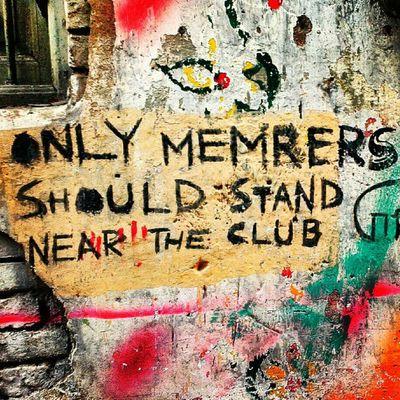 Members Only :-) Calcutta Kolkata Incrediblecalcutta Graffiti wall art paint english typo notice sign