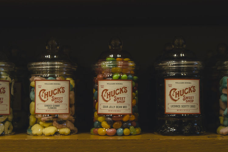 Colors Candies Containers Food Full Glass Jar Shelf Shop Sweet Sweet Food