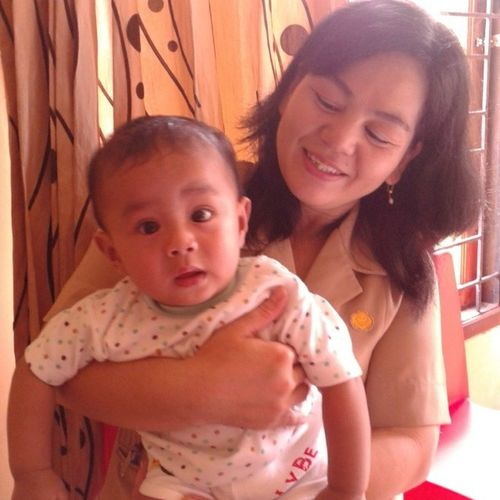 """My nephew & my mom"" Picsofday MyPick Today Takenbyme NorthBorneo EastBorneo Indonesia Asian"