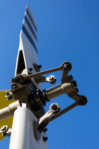 Tail Rotor Aviation Blue Close Up Close-up Day Detail Flying Focus On Foreground Helicopter High Section Low Angle View No People Outdoors Part Of Rotor Sky Tailrotor
