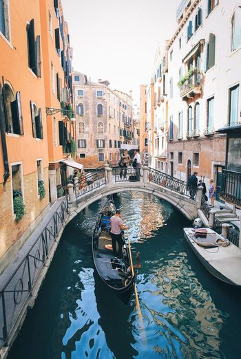 View of canal in venice
