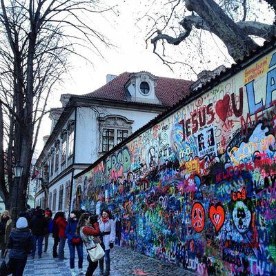 John Lennon Wall Whereschesa Lennonwall