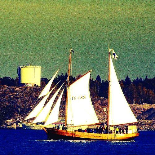Sailin Sailboat Sun Summer Helsinki