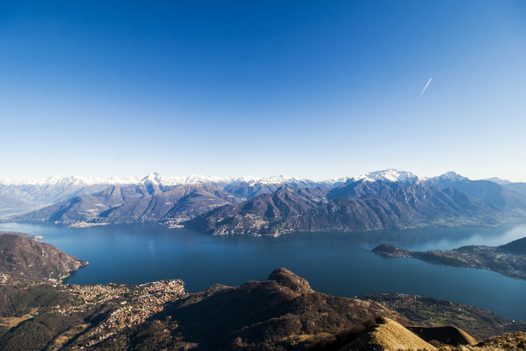 A view lake of como from mount crocione