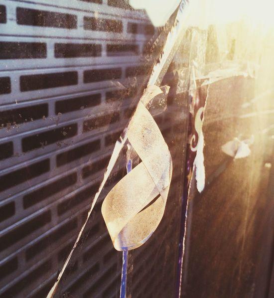 Peeling Sellotape on Abandoned Shop Window Streetphotography