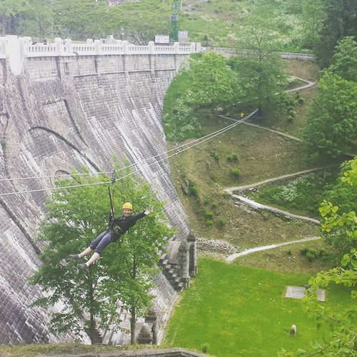 Dam Labskaprehrada Bridging 25meters intheair adrenalin ropes amazing amazingday experience fly flying goagain niceweekend