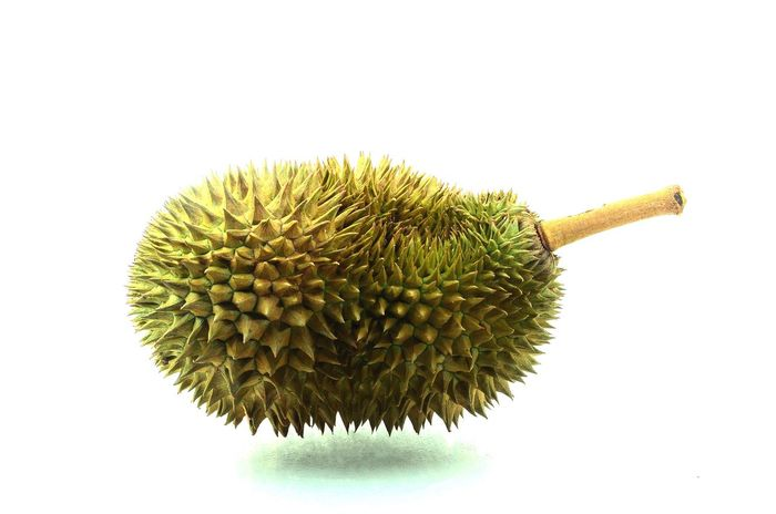Durians Fruit Fresh Tasty Delicious King Of Fruits White Background Studio Shot Close-up Raw Food Healthy Eating No People Freshness Seed