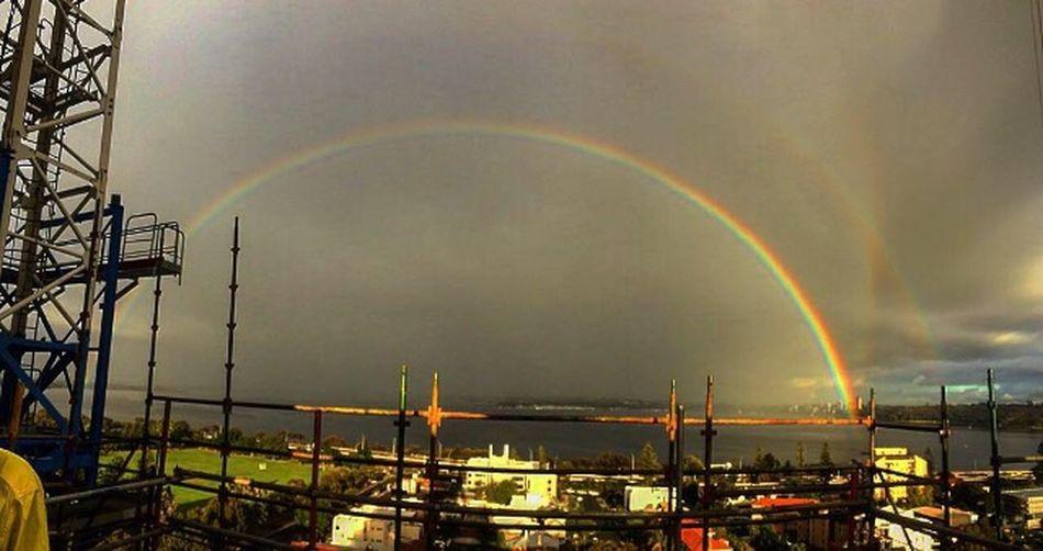 Unedited, took this at work yesterday. Rainbow Rainbow Sky Rainbow🌈 Rainbow Colors Fullspectrum Construction Site Construction Worker Constructionlife Perth Perthcity Perthlife Perth Australia Photo Photooftheday Rainy Days Unedited Photo Unedited Vivid Colours