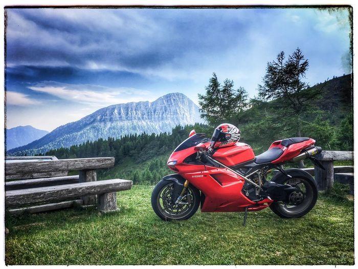 Ducati, motorrad, biker, ls2, Mountain Cloud - Sky Land Vehicle Outdoors Motorcycle Helmet Austria Kärnten Landscape