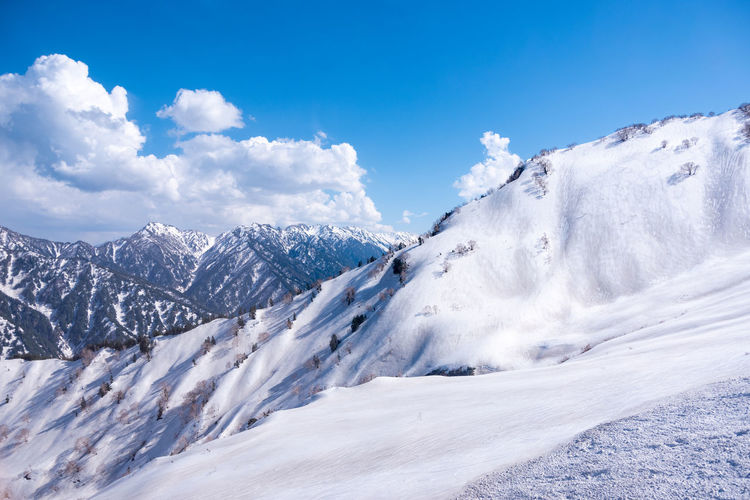 Cold Temperature Snow Winter Sky Beauty In Nature Scenics - Nature Cloud - Sky White Color Mountain Tranquil Scene Tranquility Environment Day Nature Non-urban Scene Blue Landscape Snowcapped Mountain Covering No People Mountain Peak The Great Outdoors - 2019 EyeEm Awards My Best Photo
