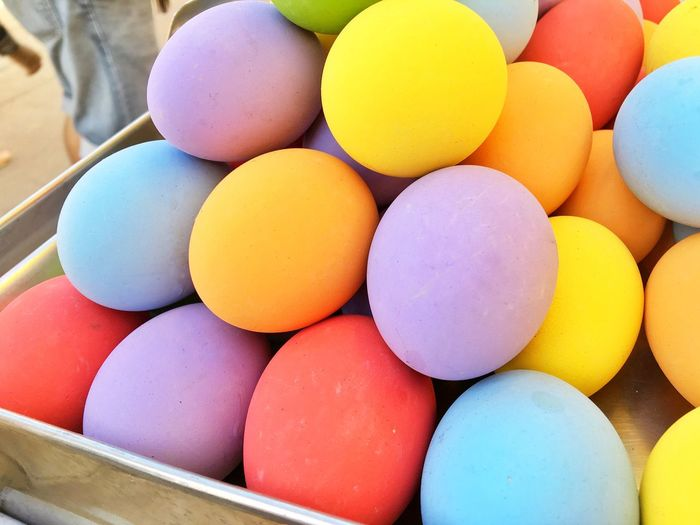 Colorful eggs. Blue Purple Yellow Red Eat Season  Festival Colorful Colourful Easter Egg Food Food And Drink Easter Large Group Of Objects No People Indoors  Egg Carton Day Close-up Fragility Multi Colored Freshness