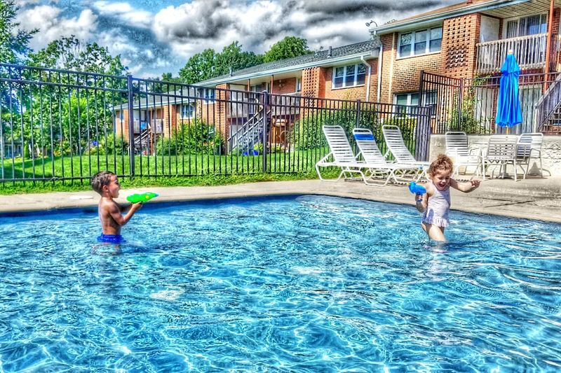 Poolday Fun In The Sun Sunday Shyla And Levi Waterguns Got You Laughter Caught A Moment 😚