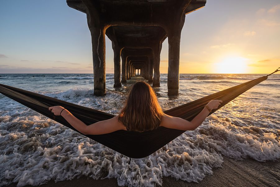 One more of these because slinging a hammock from a pier to catch a sunset while water rushes under you is the way to end a day. 👌😎👌 California Beach Life CaliLife CaliLivin Summer Views