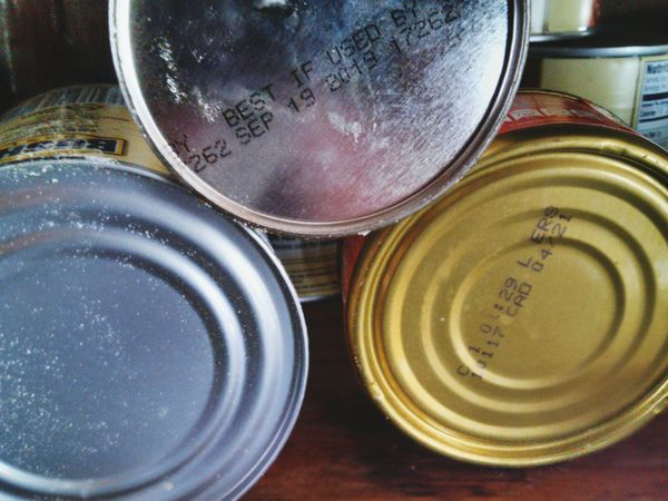 Canned food! Though not always healthy made for an interesting photo. Indoors  No People Stack Food And Drink Close-up Lid Can Day Kıtchen No Photoshop EyeEmNewHere Number Text Writings Canned Food Cannedgoods Unhealthy Unhealthy Eating Expiration Date