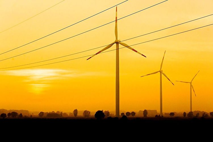 Sunset Silhouette Wind Power Electricity  North Germany Photography Fstopgear