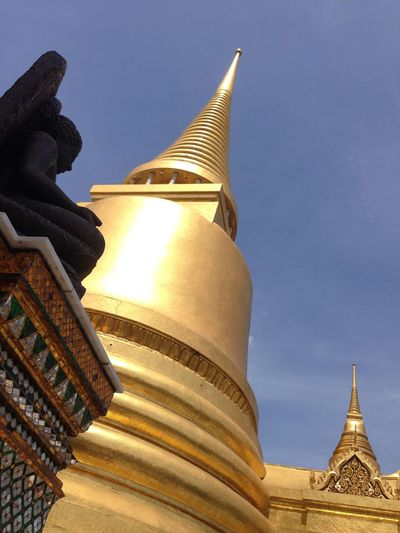 Architectural Feature Architecture Blue Built Structure Capital Cities  City Cloud Cloud - Sky Day Design Famous Place High Section International Landmark Low Angle View No People Ornate Outdoors Sky Tall - High Thailand Tourism Travel Destinations