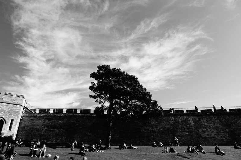 The Week On EyeEm Large Group Of People Real People Men Women Sky Cloud - Sky Built Structure Building Exterior History Travel Destinations Day Architecture Tree Leisure Activity Outdoors Lifestyles Adult People Ancient Civilization Adults Only Black And White Castle