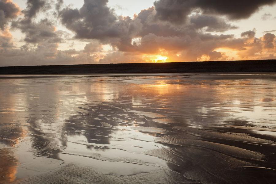 Beach Sunrise Cloudscape English Seaside Nature North Devon Westward Ho Beach Wet Sand Wet Sand Reflection Beach Dramatic Clouds Outdoors Reflective Beach Seascape Sunrise Textured Beach Tranquil Scene Water Westward Ho!