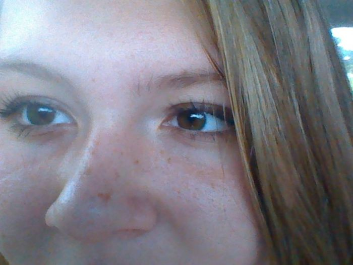 Freckles Big Brown Eyes Taking Photos