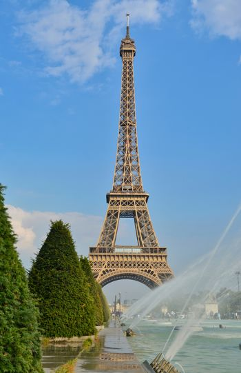 Eiffel Tower Paris Paris, France  Architectural Feature Architecture Built Structure City Cloud - Sky Day Eiffeltower Eiffelturm History Metal Nature No People Outdoors Plant Sky Tall - High The Past Tourism Tower Travel Travel Destinations Tree