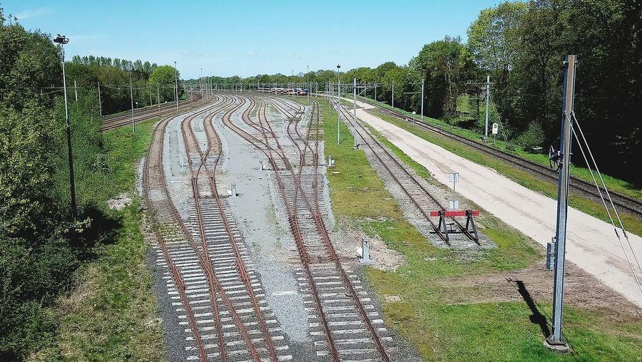 Wich track to choose? Tracks Train Tracks Railway Railroad Track Sky Grass