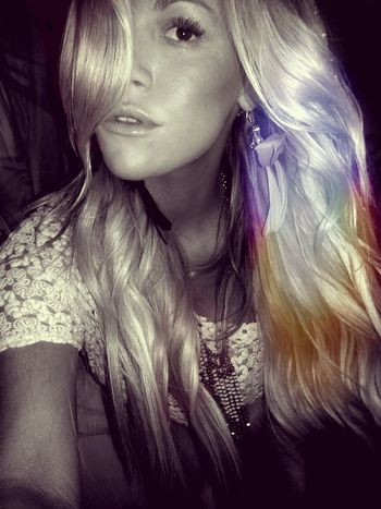 Rainbowhair Feathers Freespirit Blackandwhite