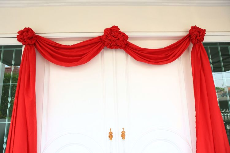Chinese wedding decoration Red Textile Curtain Decoration Event Celebration Hanging Chinese Wedding Chinese Wedding