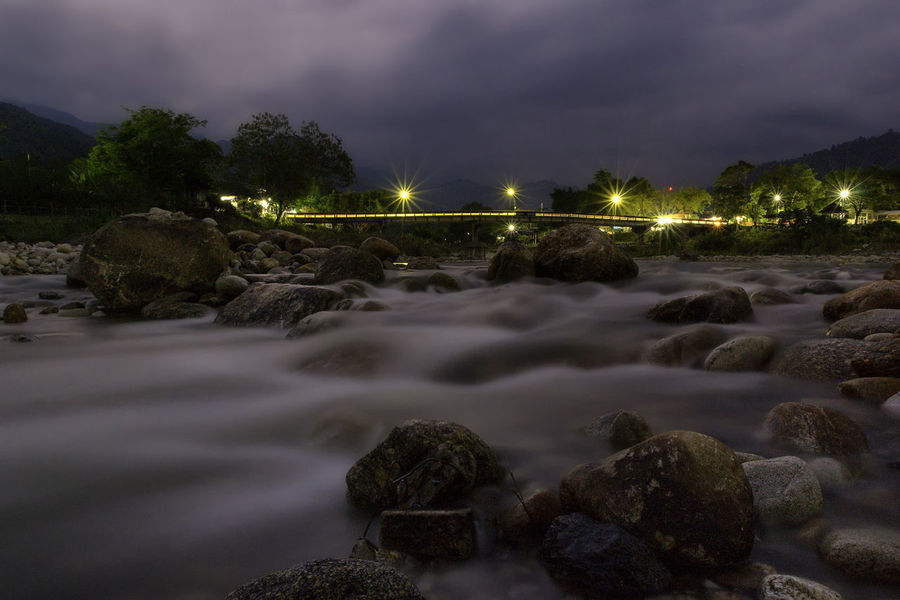 Streams and bridges at the Kiriwong best weather in Thailand. Nakhon Si Thammarat Nature Photography Rock Beauty In Nature Bridge - Man Made Structure Cloud - Sky Environment Famous Place Flowing Water Kiriwong Lansaka Long Exposure Motion Nature Outdoors Plant Power In Nature Rock Scenics - Nature Sky Stone Streamzoofamily Tourism Tree Water