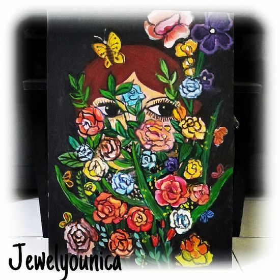 Finished! ;) FLoWeRS GaRDeN GiRL ;) ♥ Art ArtWork Artist Artists Contemporaryart Painting Illustration Drawing Draw Sketch Sketching WorkOfArt Followart Flowers Flower Girl Garden Butterfly Acrylic Acrylics Acrylicpainting  Instaart Instaartist For Sale