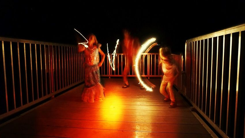 kids having fun with sparklers Lighttrails Enjoying Life Lightpainting Light Trails Light In The Darkness Light Painting Light And Darkness