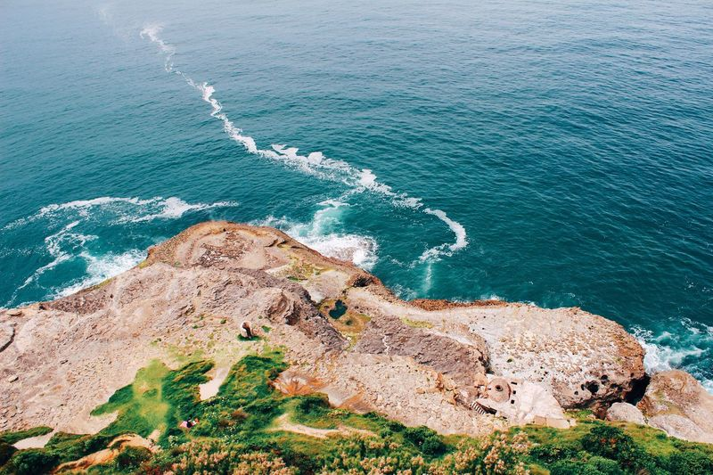 Scenic View Of Sea Seen From Cliff
