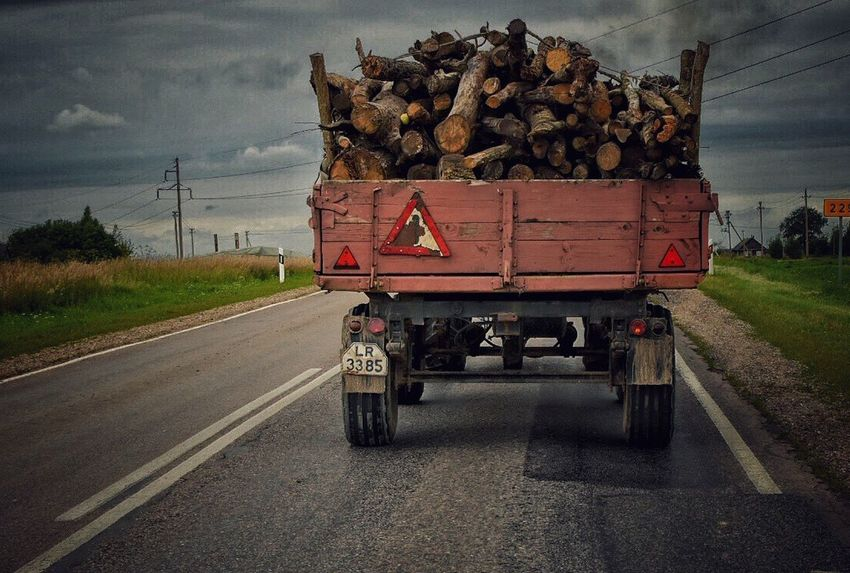 Wood Chopped Logs Truck Old Machinery On The Road Blocking My Way In Front Of Me Old Truck Olden Days Throwback Transportation Neighborhood Map