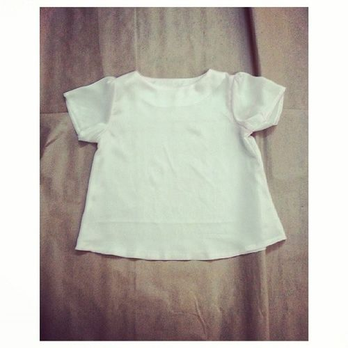 The pearly white pleated sleeve top made to order♡ Madebybonne Bonnecraft Bonnesewing