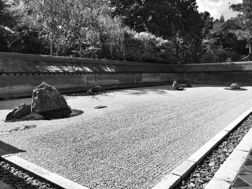 Ryoan-ji zen garden, Kyoto Temple Zen Garden Ryoanji At 龍安寺 Ryoan-ji Temple