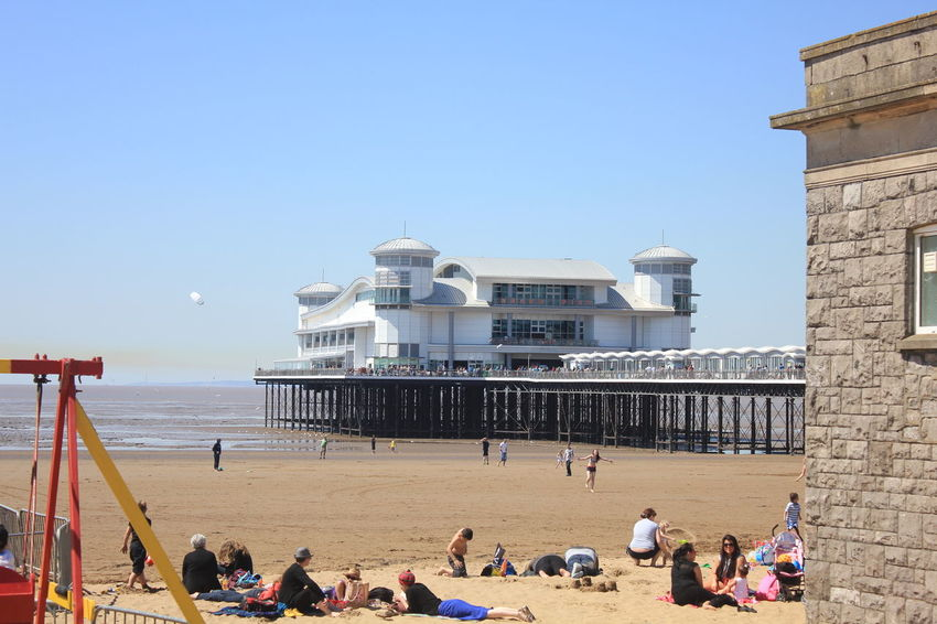 Grand Pier, Weston Super Mare Activity Beach Built Structure Clear Sky Day Dockside Holiday Lifestyles Outdoors Sand Sea Selfie Shadow Sky Travel Travel Destinations Traveling Vacations Water