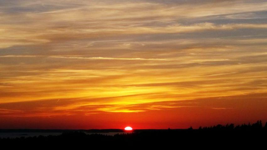 Sunset Archipelago stockholm First Eyeem Photo