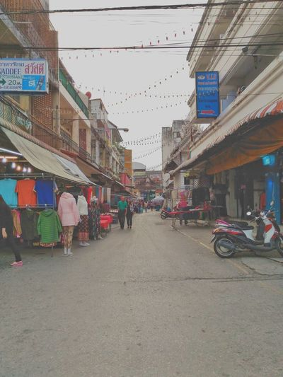 Market stall in city