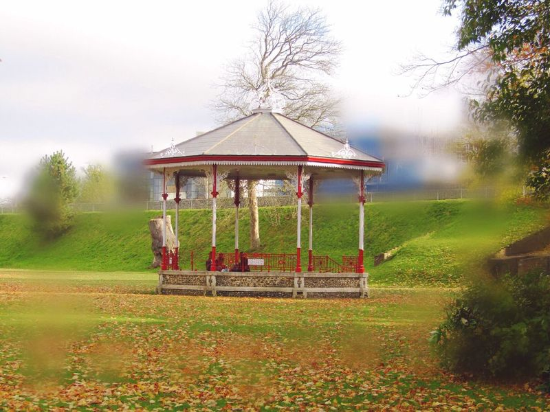 Band Stand Nature Grass Tree Outdoors Field Playground Built Structure Day Landscape Gazebo Beauty In Nature Architecture