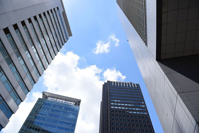 Blue Sky Tokyo Sky Tokyo,Japan How's The Weather Today? Building