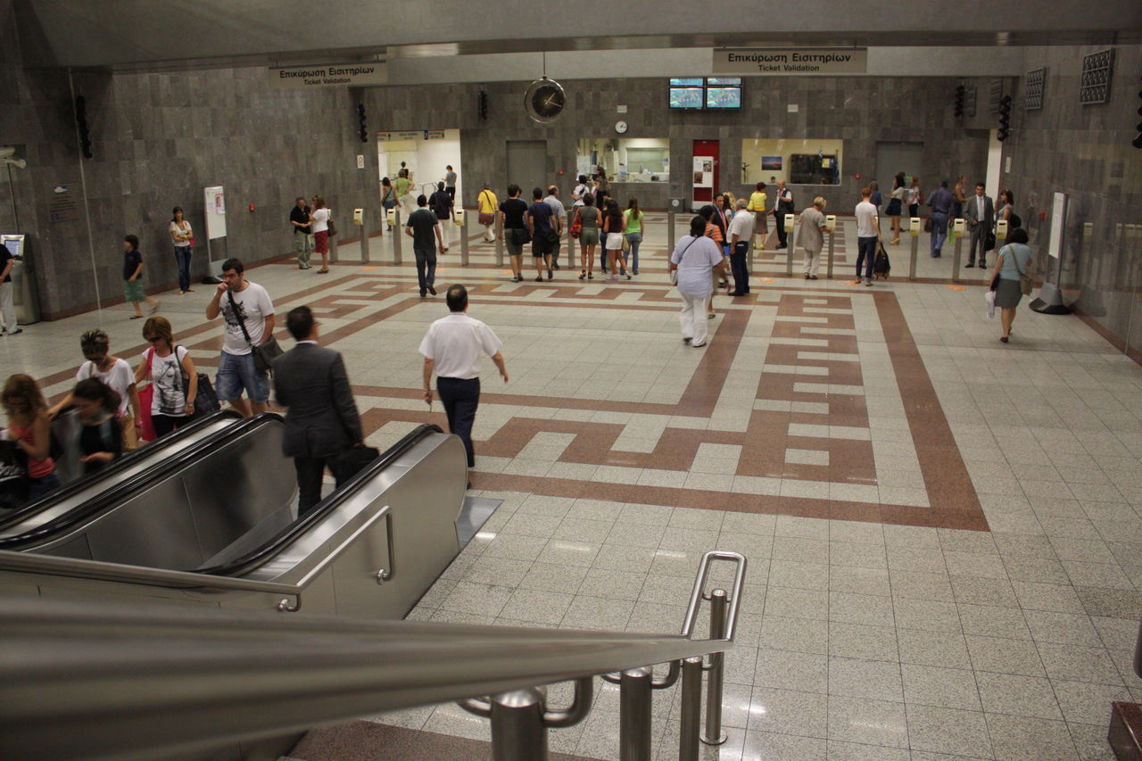 People On Subway Station