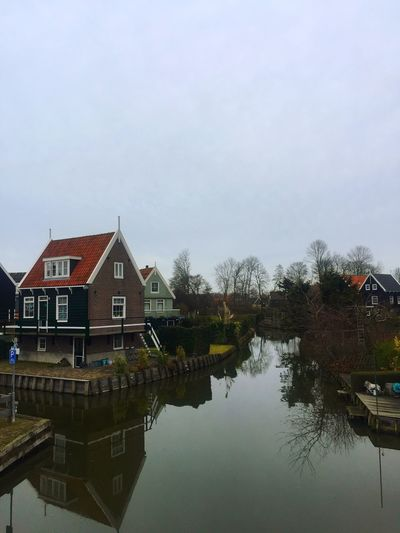 Marken Houses&Homes Around The World Houses On The Water Waterfront Water Reflections Water Sky Dutch Landscape Dutch Houses