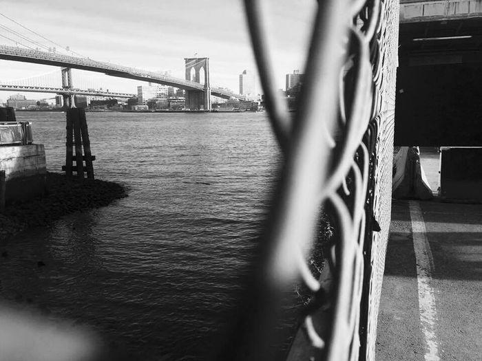 Brooklyn Bridge / New York Outdoors Water Sky Cool USA Blackandwhite First Eyeem Photo